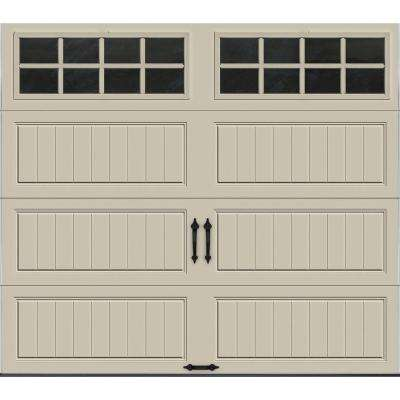 Gallery Collection 8 ft. x 7 ft. 6.5 R-Value Insulated Desert Tan Garage Door with SQ24 Window