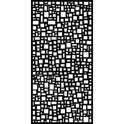 Mosaic 0.3 in. x 95.6 in. x 3.95 ft. Recycled Plastic Decorative Screen in Slimline Frame in Charcoal (Bundle of 4)