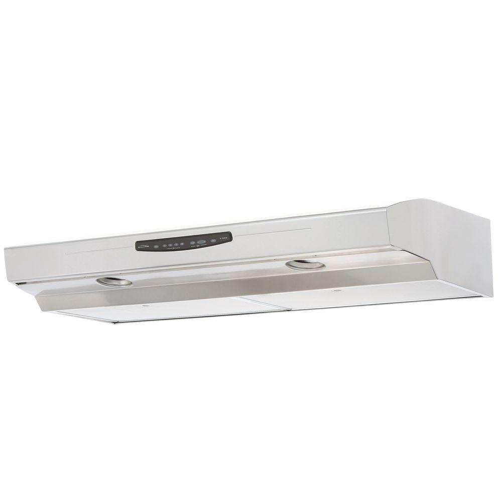 nutone allure iii series 42 in convertible range hood in stainless the home depot