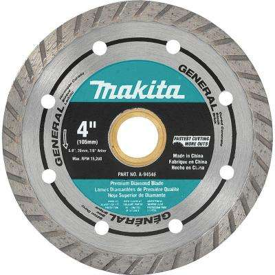 4 in. Turbo Rim General Purpose Diamond Blade