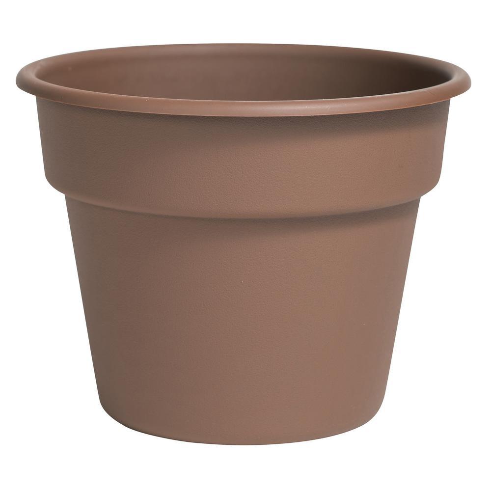 Dura Cotta 16 in. Chocolate Plastic Planter