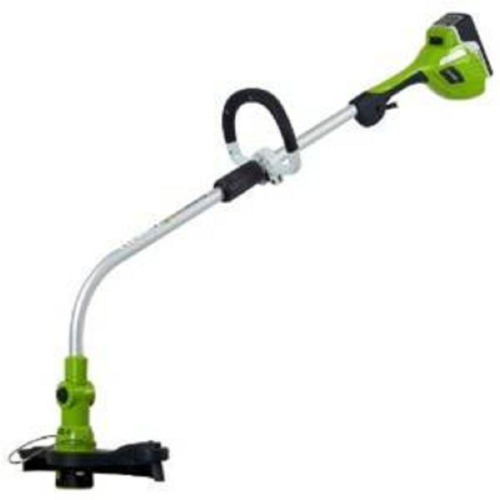 Green Works 12 in. 20-Volt Cordless Electric Lithium Trimmer/Edger-DISCONTINUED