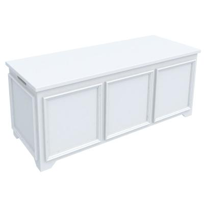 Oxford White Storage Bench with File Storage