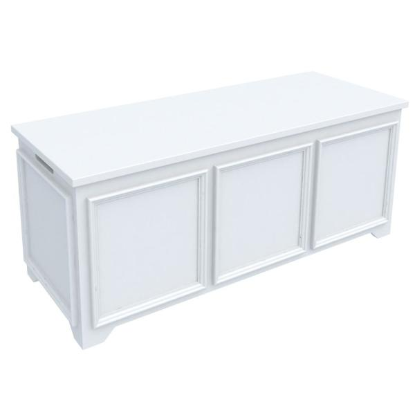 Home Decorators Collection Oxford White Storage Bench with File Storage