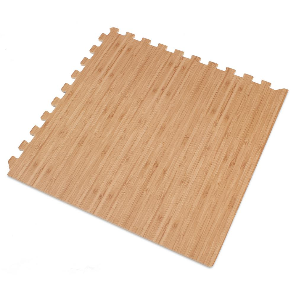 Light Bamboo Printed Wood Grain 24 in. x 24 in. x
