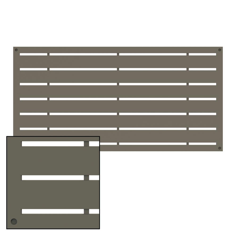 4 ft. x 2 ft. Boardwalk Greige Polymer Decorative Screen Panel