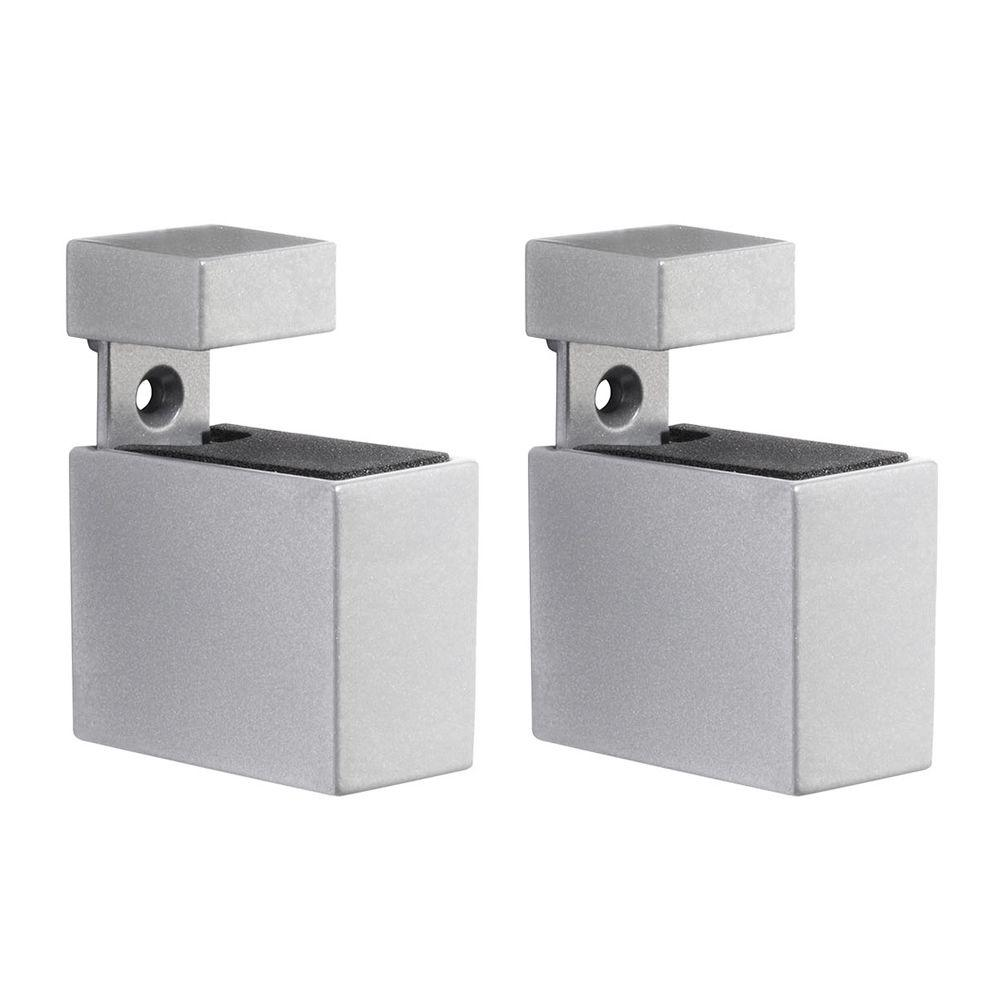 Dolle Cuadro 3/16 in. - 3/4 in. Adjustable Shelf Support in Silver