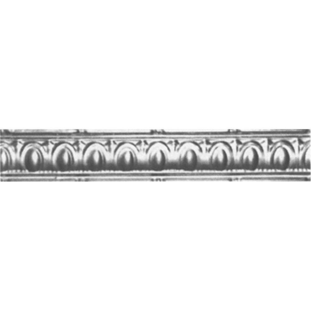 Shanko 3-1/2 in. x 4 ft. x 3-1/2 in. Bare Steel Nail-up/Direct Application Tin Ceiling Cornice (6-Pack)
