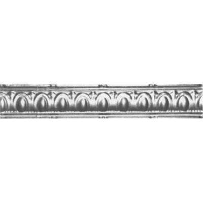 3-1/2 in. x 4 ft. x 3-1/2 in. Bare Steel Nail-up/Direct Application Tin Ceiling Cornice (6-Pack)