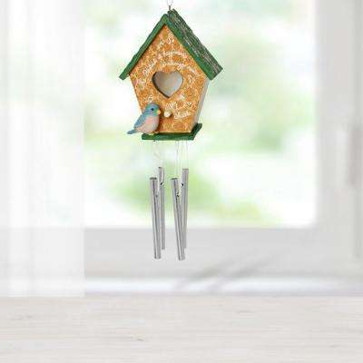 Hanging Mutli-Color MDF/Resin Decorative Home Decor Birdhouse Wind Chime