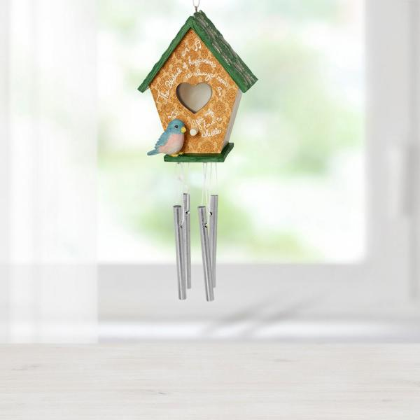 Precious Moments Hanging Mutli Color MDF Resin Decorative Home Decor Birdhouse Wind Chime