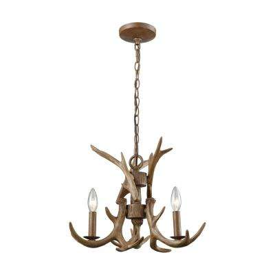 Brown chandeliers lighting the home depot elk 3 light wood brown chandelier aloadofball Gallery