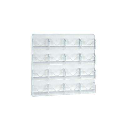 16-Pocket Wall Mount Business/Gift Card Holder, Clear (2-Pack)