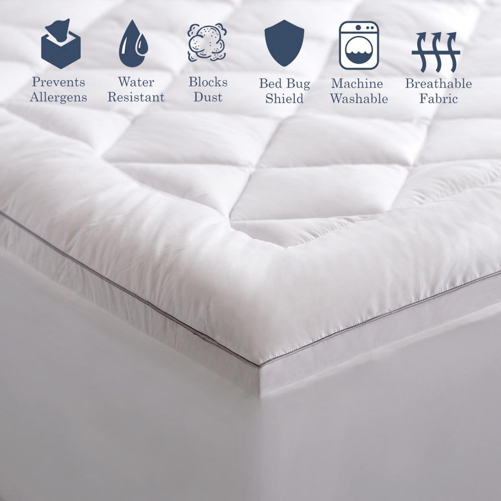 Hypo-Allergenic Quilted Polyester Mattress Pad