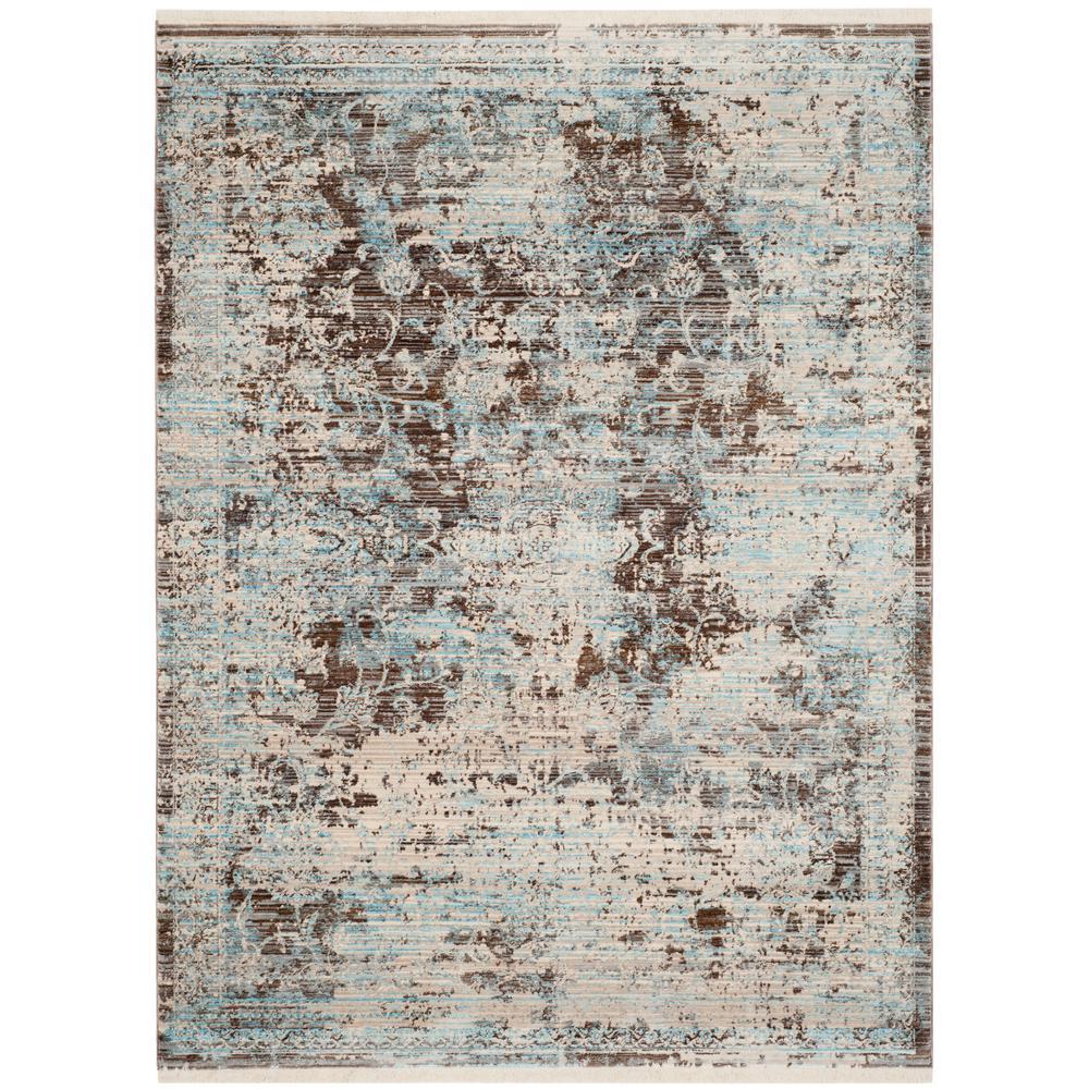 Vintage Persian Brown/Light Blue 4 ft. x 6 ft. Area Rug