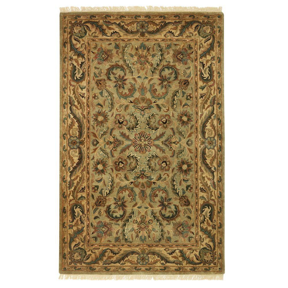 Home Decorators Collection Chantilly Antique Green 2 ft. 6 in. x 4 ft. 6 in. Accent Rug
