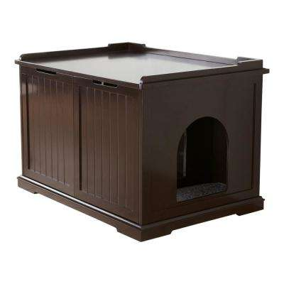 Wooden Pet House XL And Litter Box