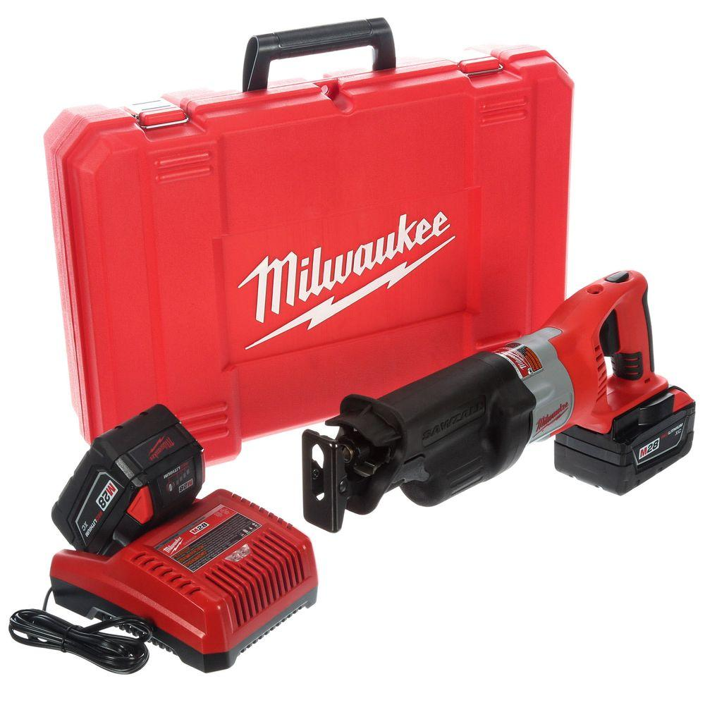 Milwaukee M28 28-Volt Lithium-Ion Cordless Sawzall Reciprocating Saw Kit