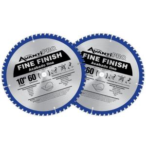 Click here to buy Avanti Pro 10 inch x 60-Tooth Fine Finish Saw Blade (2-Pack) by Avanti Pro.