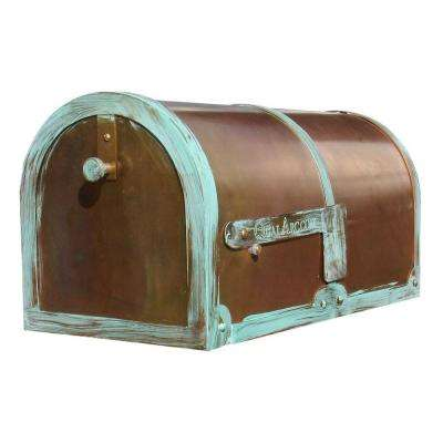 Antiqued Patina Post Mount Non-Locking Mailbox