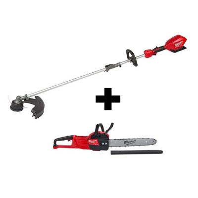 M18 FUEL 18-Volt Lithium-Ion Brushless Cordless QUIK-LOK String Trimmer and Chainsaw Combo Kit (2-Tool)