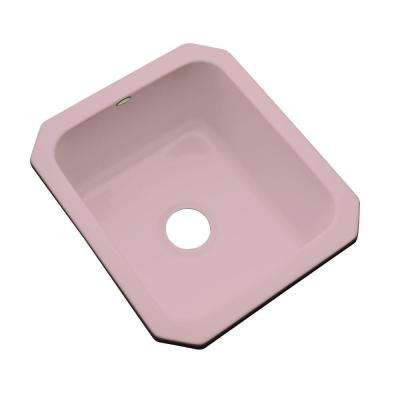 Crisfield Undermount Acrylic 17 in. Single Bowl Entertainment Sink in Wild Rose