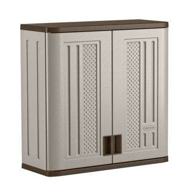30.25 in. H x 30 in. W x 12 in. D 1-Shelf Resin Wall Mounted Cabinet Storage in Platinum