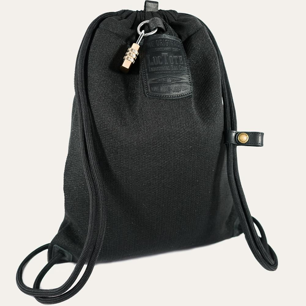 Loctote Flak Sack II 18 in. Stealth Black Backpack with Theft Proof Features -21242-4 - The Home Depot ebeabe82458ad