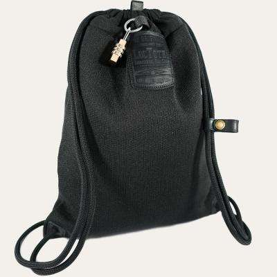 Flack Sack II 9 in. Stealth Black Backpack with Theft Proof Features