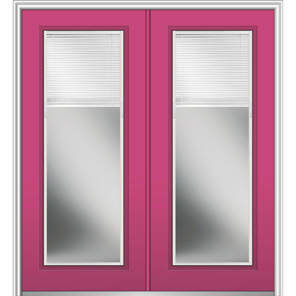 72 X 80 Pink Doors With Glass Steel Doors The Home Depot