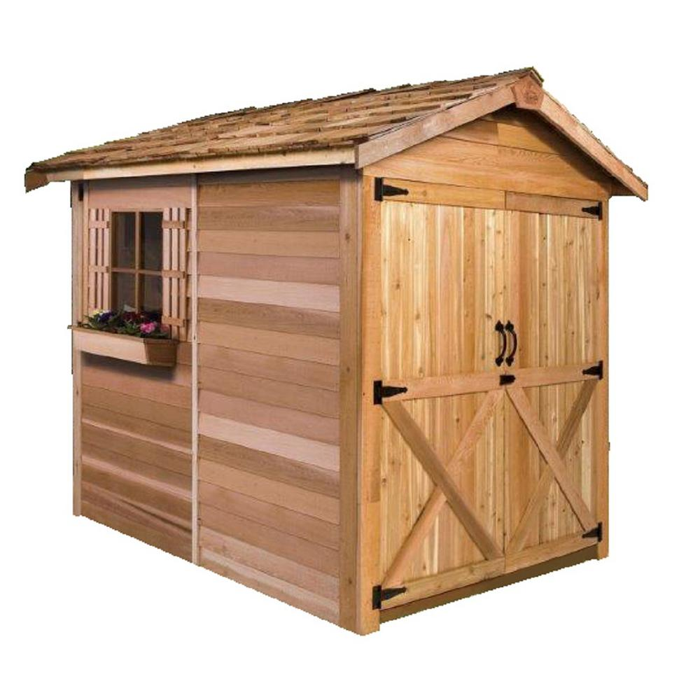 Cedarshed Rancher 6 ft. x 6 ft. Western Red Cedar Garden Shed