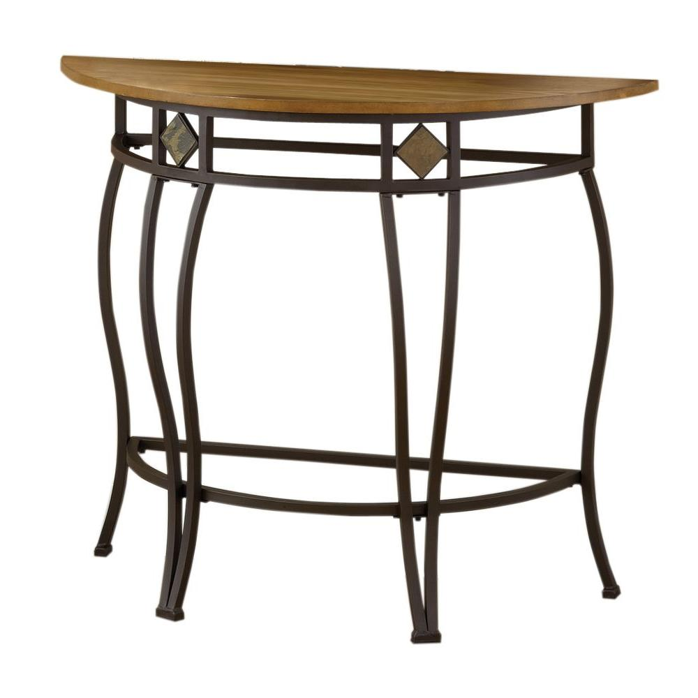Hillsdale Furniture Lakeview Medium Oak and Copper Console Table