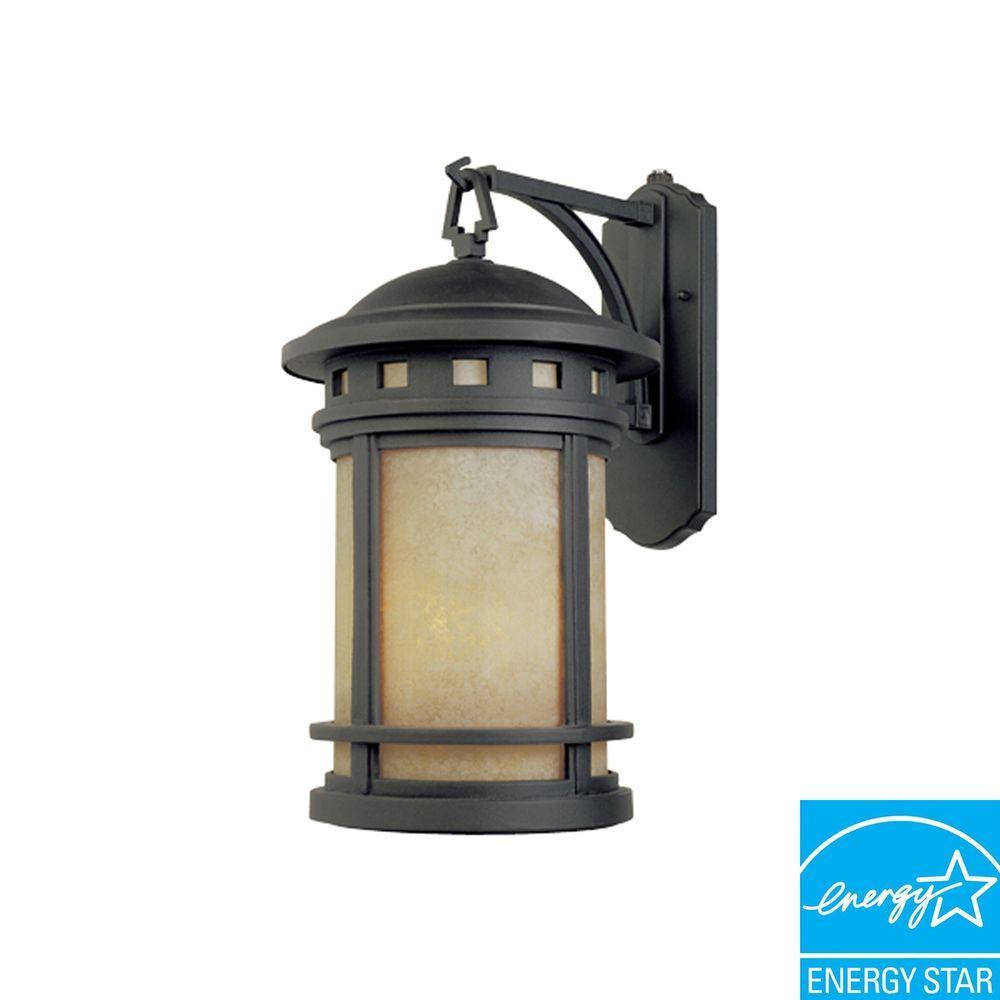 Capistrano Oil Rubbed Bronze Outdoor Wall-Mount Lantern