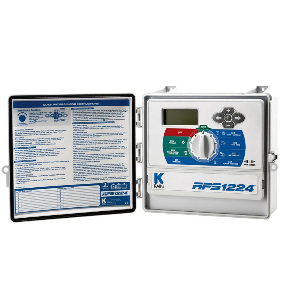 K-Rain RPS1224 12 Station Outdoor Sprinkler Timer