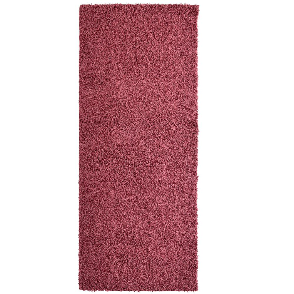 Lanart Rug Custom Shag Red 2 ft. x 8 ft. Indoor Runner Rug