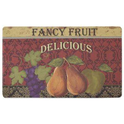 Fancy Fruit 18 in. x 30 in. Foam Comfort Kitchen Mat