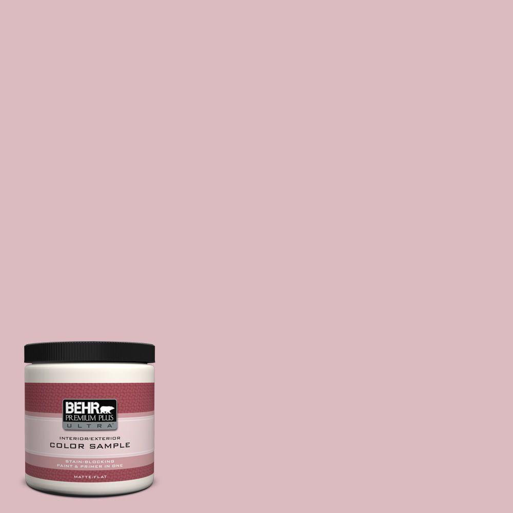 BEHR Premium Plus Ultra 8 oz. #S130-2 Shy Smile Matte Interior/Exterior Paint and Primer in One Sample