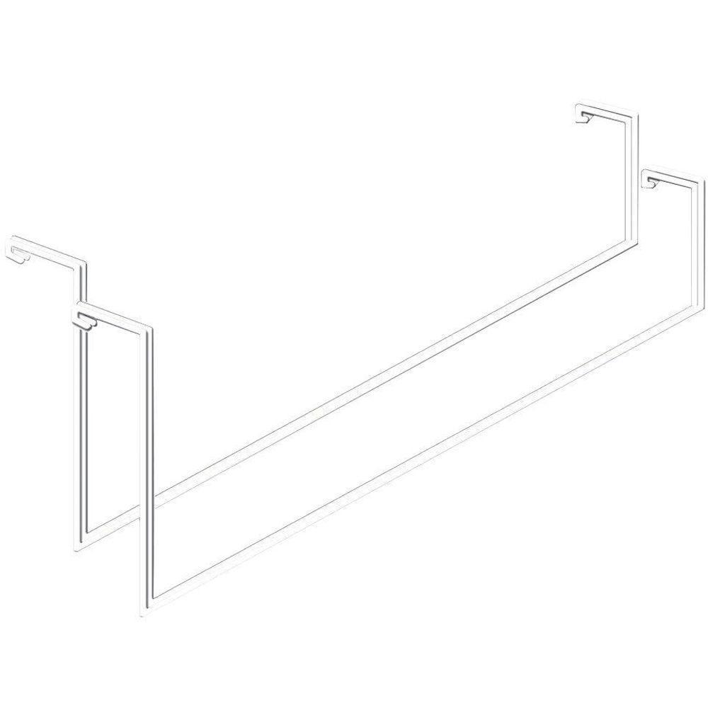 Add on Garage Ceiling Mount Storage Racks in White (2-Pack)