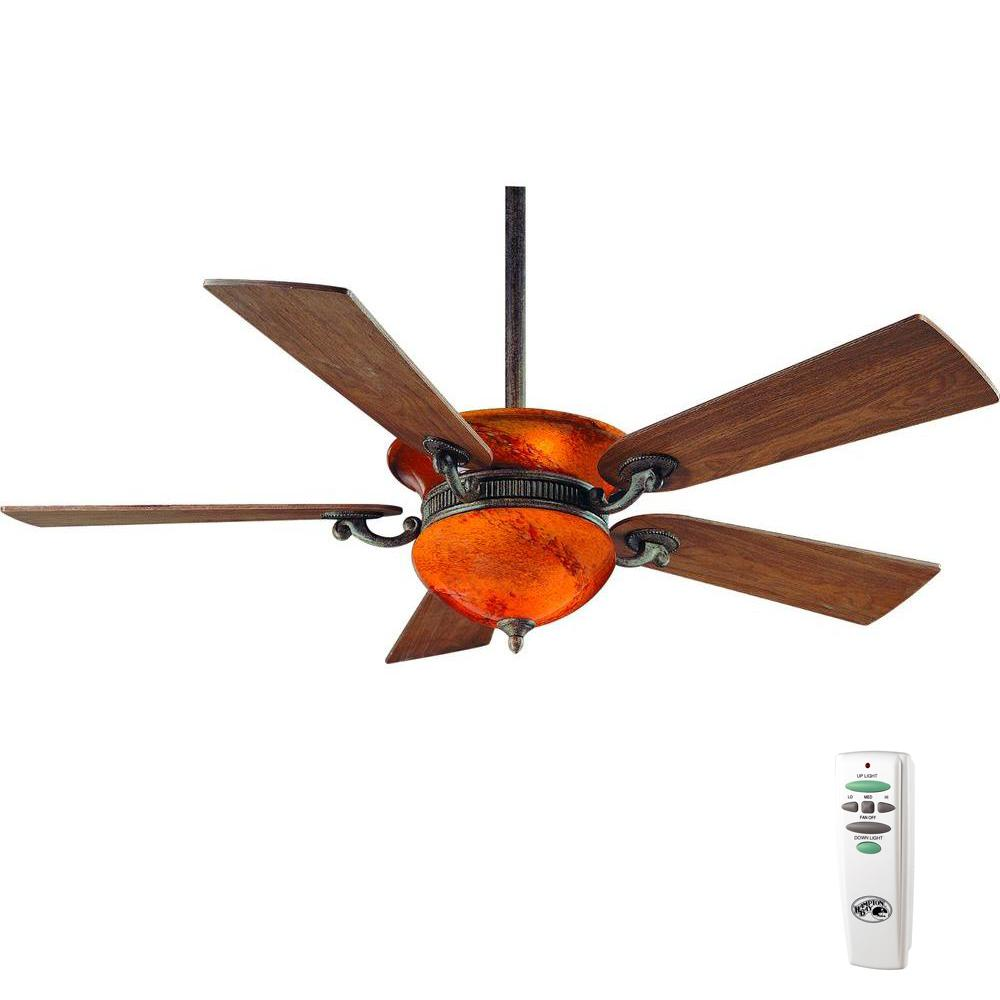Hampton Bay Rhodes 52 In Indoor Nutmeg Ceiling Fan With Light Kit And Remote Control