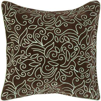 LovelyF 18 in. x 18 in. Decorative Down Pillow
