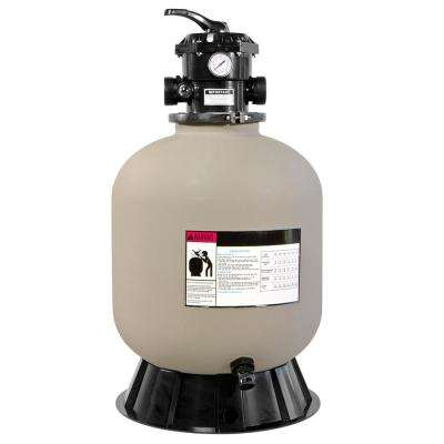 19 in. Swimming Pool Sand Filter System with 7-Way Valve In-Ground