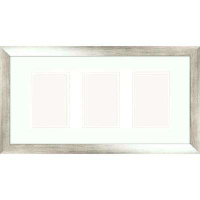 3-Opening 4 in. x 6 in. Matted Silver Photo Collage Frame (Set of 2)