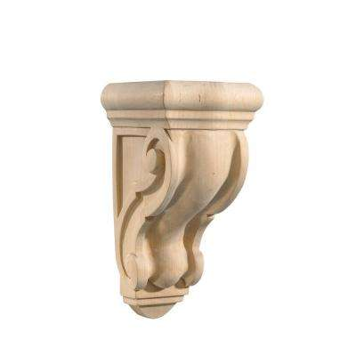 MAPLE 5-1/2 in. x 4-5/8 in. x 9-13/16 in. Unfinished Wood Corbel