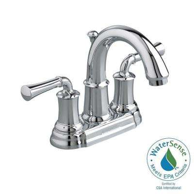 Portsmouth 4 in. Centerset 2-Handle High-Arc Bathroom Faucet with Speed Connect Drain in Polished Chrome