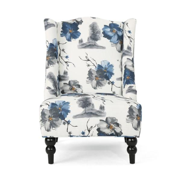 Noble House Toddman Multi Colored Floral Fabric High Back