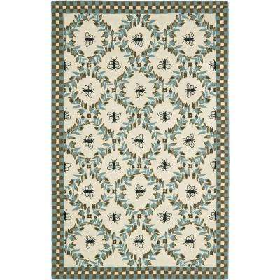 Chelsea Ivory/Teal 5 ft. 3 in. x 8 ft. 3 in. Area Rug