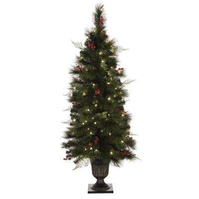 4.5 ft. Pre-Lit Entrance Christmas Tree with 100 Clear Lights