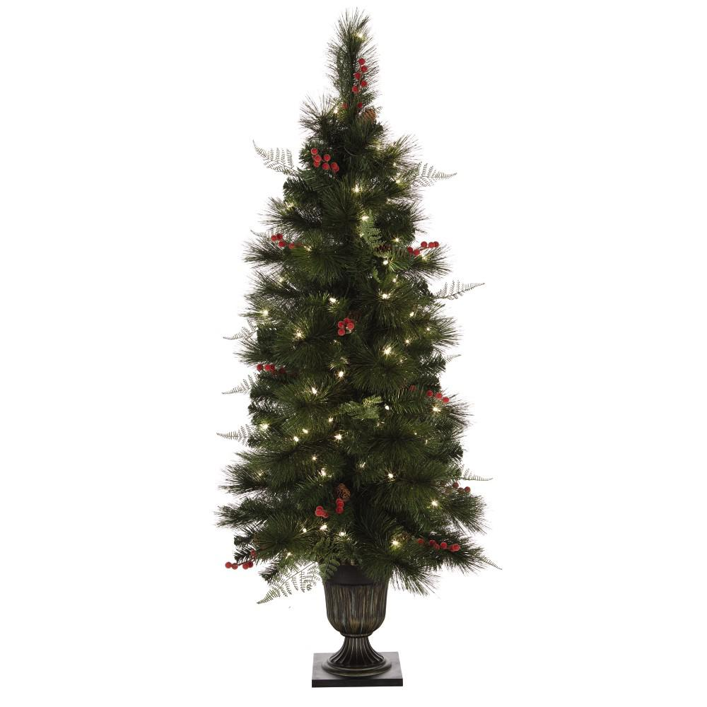 Home Decorators Collection 4.5 ft. Pre-Lit Entrance Artificial Christmas Tree with 100 Clear Lights-9988700610 - The Home Depot