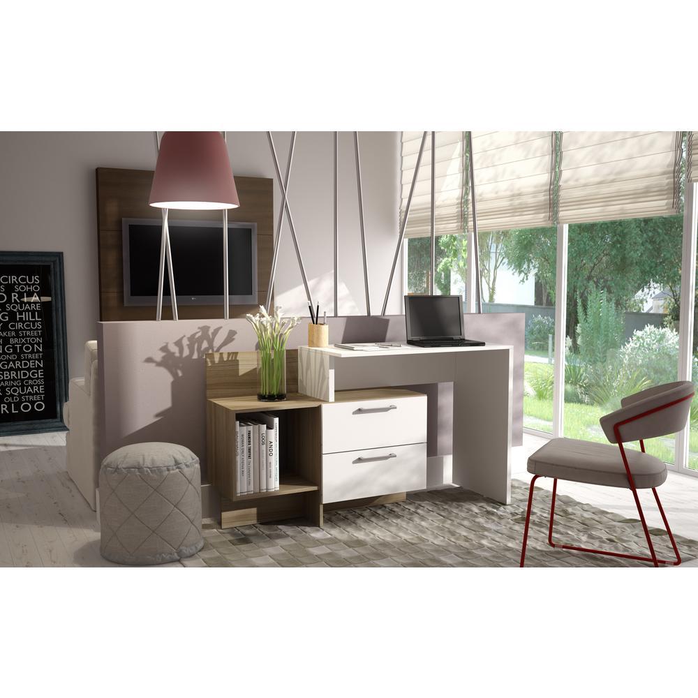Teramo White and Oak Desk