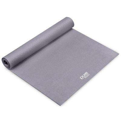 24 in. x 68 in. 0.25 in. Gray Yoga Mat